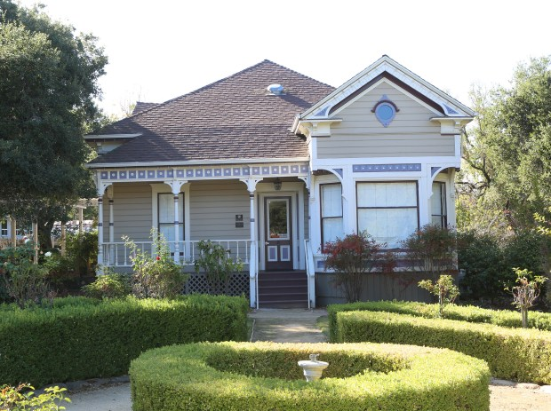 The Warner Hutton House was built in 1896 on Sousa Lane. The date which the city of Saratoga had it relocated to its current space on Fruitvale Avenue is unknown. Currently used for different historical events and city-related classes, this Queen Anne cottage typifies the end of the 19th century. (George Sakkestad/Staff Photographer)