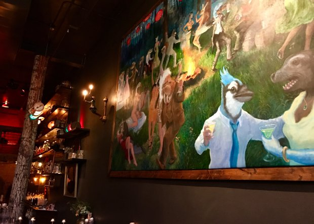 The decor at Bend's Dogwood Cocktail Cabin is as creative as the cocktails.(Jackie Burrell/Bay Area News Group)