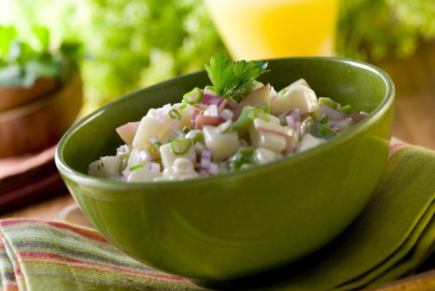This red potato salad uses Dijon and whole-grain mustard to amp up theflavors. (Thinkstock)