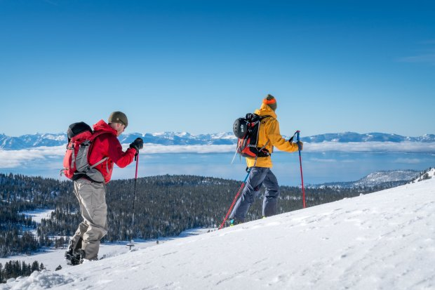 Snowshoe hikes, cross-country skiing, inner-tubing and snowboarding arejust a few of the winter recreation possibilities at Lake Tahoe.(Generikal.com)