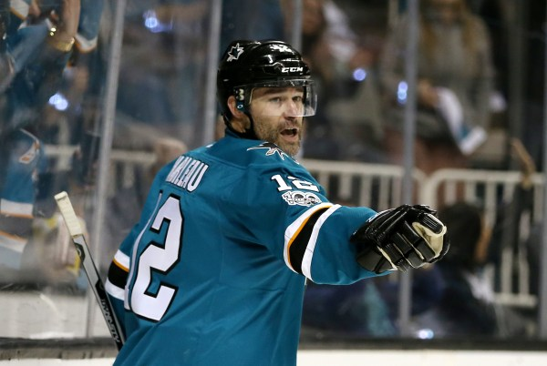 Patrick Marleau scores in San Jose Sharks return
