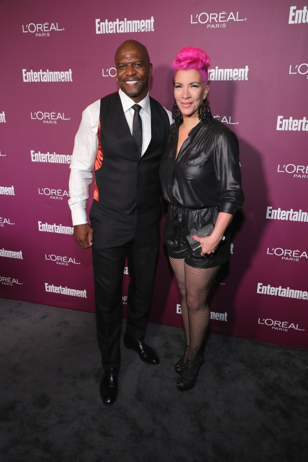 WEST HOLLYWOOD, CA - SEPTEMBER 15: Terry Crews (L) and Rebecca King-Crews attend the 2017 Entertainment Weekly Pre-Emmy Party at Sunset Tower on September 15, 2017 in West Hollywood, California. (Photo by Neilson Barnard/Getty Images for Entertainment Weekly)