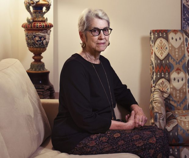 "Jessica Leeds, seen at home in New York on Saturday, says Donald Trump groped her 30 years ago. Of the Harvey Weinstein harassment scandal, Leeds said: ""I thought things were better."" Must credit: Photo by Celeste Sloman for The Washington Post"