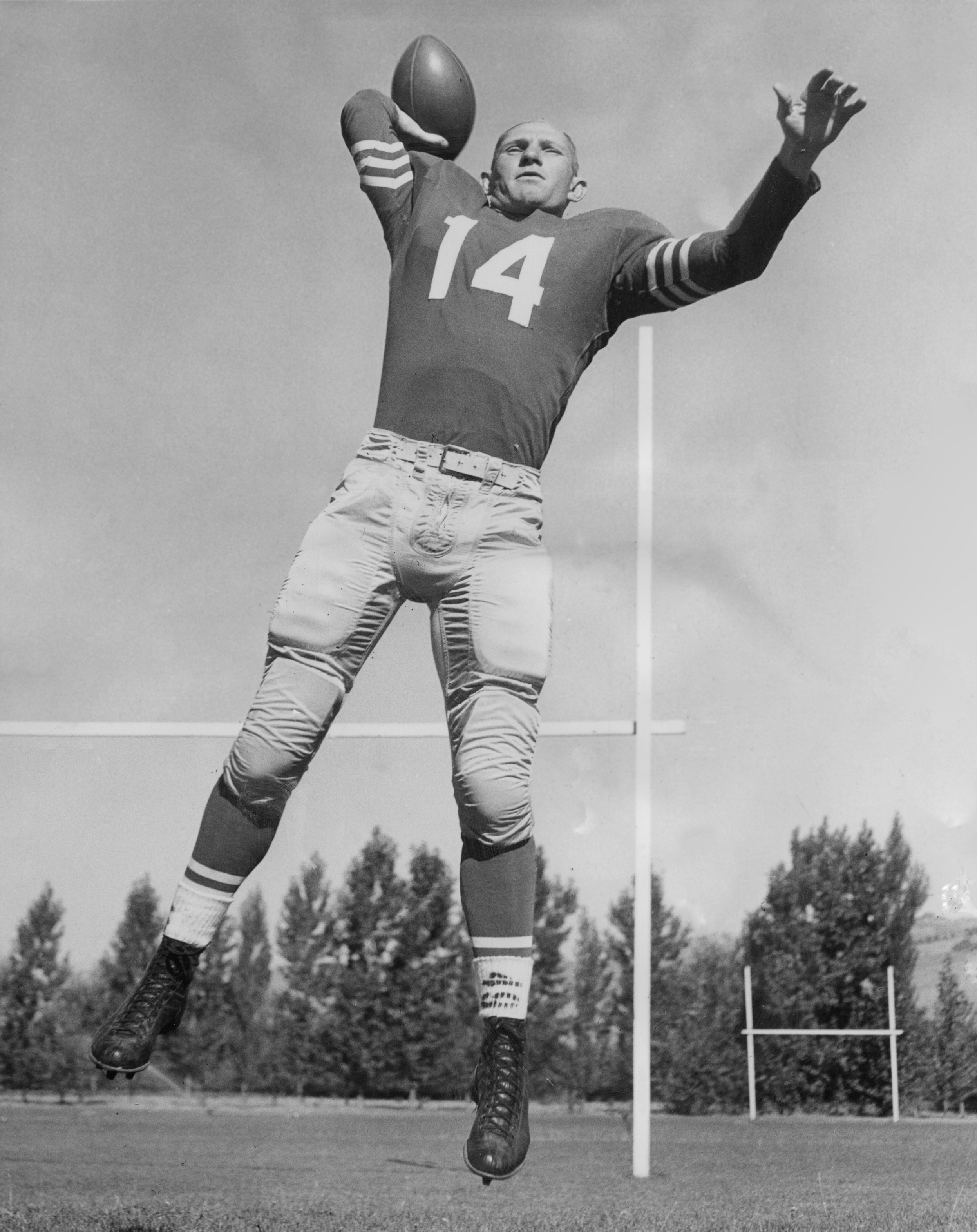 San Francisco 49ers quarterback Y. A. Tittle. Published