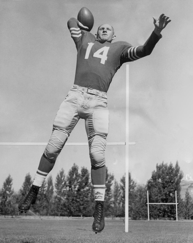 Moraga, CA August 4, 1958 - San Francisco 49ers quarterback Y. A. Tittle. (By Keith Dennison / Oakland Tribune)Published August 15, 1961