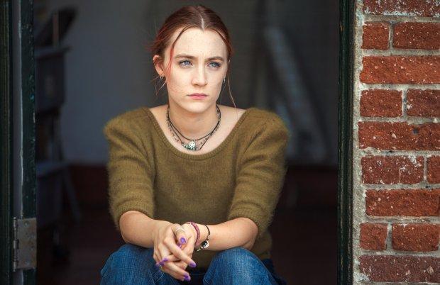 "Saoirse Ronan plays the title character, a Sacramento high school senior,in ""Lady Bird."" (Merie Wallace/A24)"