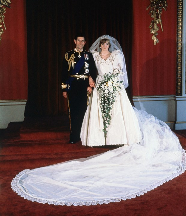 The formal wedding portrait of Prince Charles and Diana, Princess of Wales, taken at Buckingham Palace on July 29, 1981, after their marriage at St. Paul's Cathedral, London. (AP Photo)
