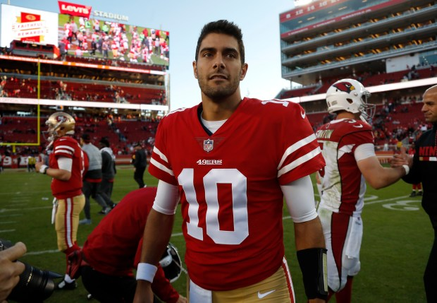 Image result for jimmy garoppolo 49ers win