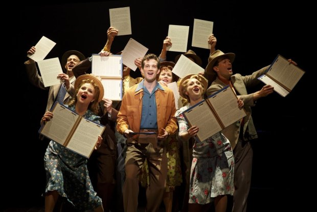 """The cast of Steve Martin and Edie Brickell's """"Bright Star."""" (Joan Marcus)"""