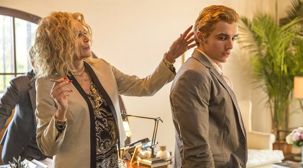 """Sharon Stone and Dave Franco in """"The Disaster Artist."""" (JustinaMintz/Warner Bros. Entertainment Inc.)"""