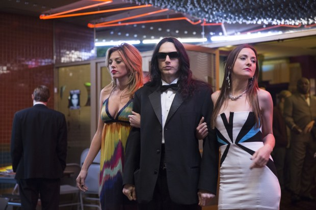 """This image released by A24 shows James Franco in a scene from """"The Disaster Artist."""" (Justina Mintz/A24 via AP)"""