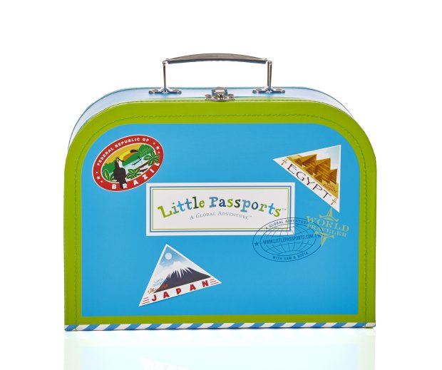A Little Passports subscription brings the world to your kid's mailbox,complete with a little suitcase to hold the various activities and stickers. (Little Passports)