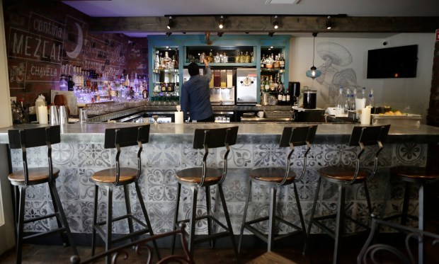 Interior view of the bar photographed at the Luna Mexican Kitchen in San Jose, Calif. on Wednesday, November 15, 2017. (Josie Lepe/Bay Area News Group)