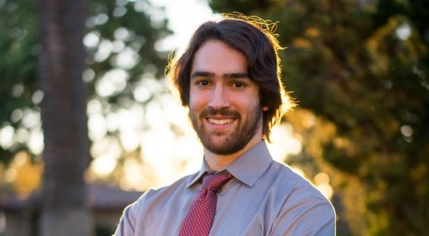 Sean Riley of Santa Clara University has been awarded a Rhodes Scholarship. (Photo by James Tensuan)