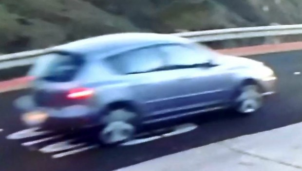 This light-colored Mazda 3 is believed to be associated with a man being sought on suspicion of groping two women jogging at San Bruno Mountain State Park in October and November.
