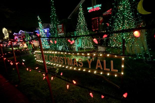 Christmas Tree Lane, Alameda. (Jane Tyska/Bay Area News Group) - Holiday Lights: 19 Spectacular Bay Area Displays