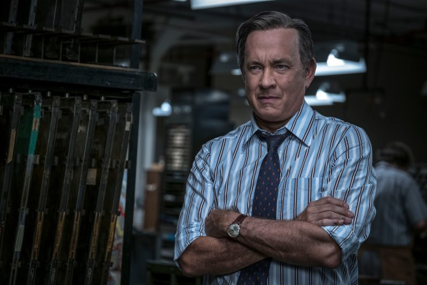 "In this image released by 20th Century Fox, Tom Hanks portrays Ben Bradlee in a scene from ""The Post."" On Monday, Dec. 11, 2017, Hanks was nominated for a Golden Globe for best actor in a motion picture drama for his role in the film. The 75th Golden Globe Awards will be held on Sunday, Jan. 7, 2018 on NBC. (Niko Tavernise/20th Century Fox via AP)"