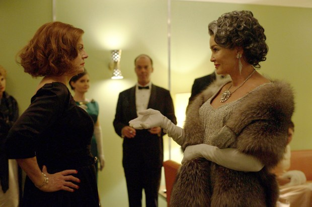 "BEST TV MOVIE or LIMITED SERIES -- ""Feud: Bette and Joan,"" starring Susan Sarandon and Jessica Lange. (Suzanne Tenner/FX via AP)"