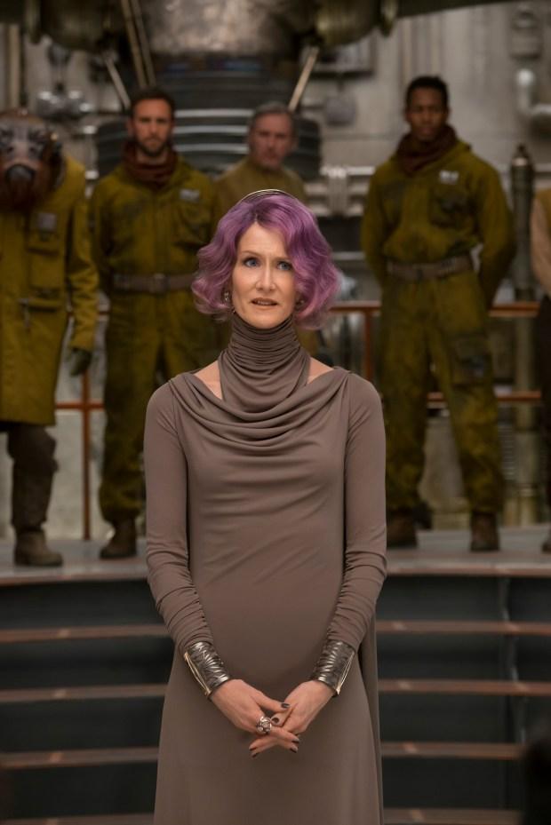 "Laura Dern portrays Vice Admiral Holdo in ""Star Wars: The Last Jedi."" (David James/Lucasfilm via AP)"