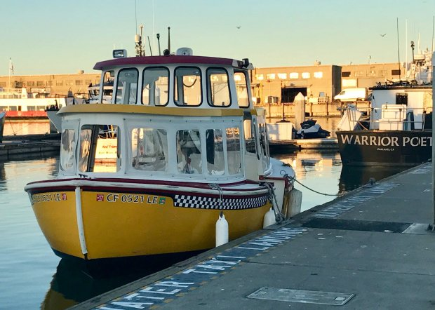 Hop aboard the adorable San Francisco Water Taxi which runs between Pier1.5, near the Ferry Building, and Hyde Street Pier. (Jackie Burrell/Bay Area News Group)