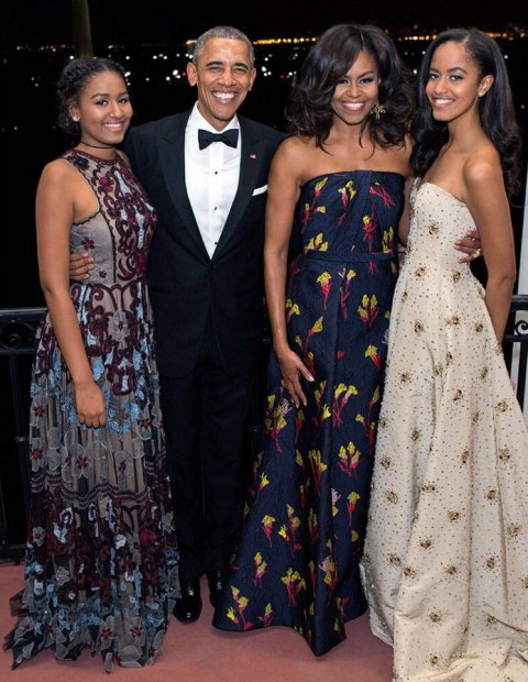 The Obama family in 2016 (Pete Souza/The White House)