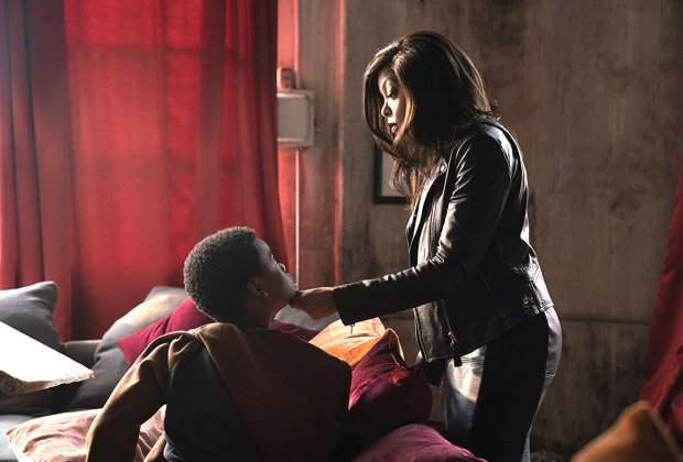 "Taraji P. Henson, right, and Jahi Di'Allo Winston in ""Proud Mary."" (DanaStarbard/Screen Gems)"