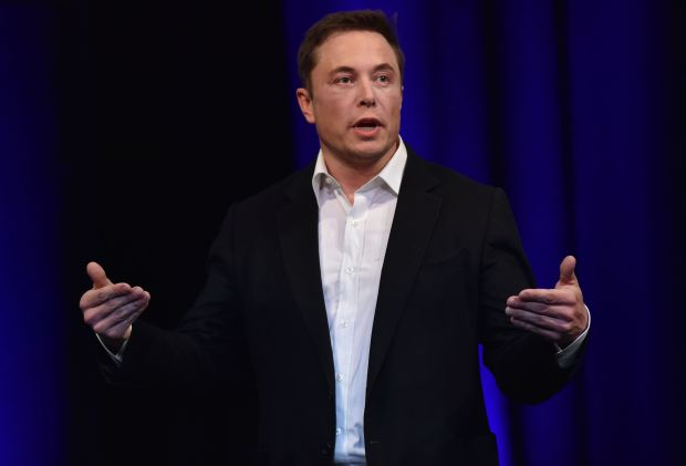 File photo dated September 29, 2017 shows billionaire entrepreneur and founder of SpaceX Elon Musk speaking at the 68th International Astronautical Congress 2017 in Adelaide. The world's biggest battery was officially launched in Australia on December 1, 2017, with the Elon Musk-driven project powered up early to meet peak demand amid a bout of hot weather, officials said. ( AFP PHOTO / PETER PARKSPETER PARKS/AFP/Getty Images)