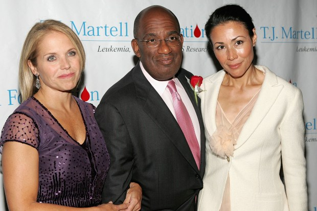 NEW YORK - OCTOBER 06: (L to R) Television personalities Katie Couric, Al Roker and Ann Curry arrive at the T.J. Martell Foundation 30th Anniversary Gala at the Marriott Marquis Hotel October 6, 2005 in New York City. (Photo by Paul Hawthorne/Getty Images)