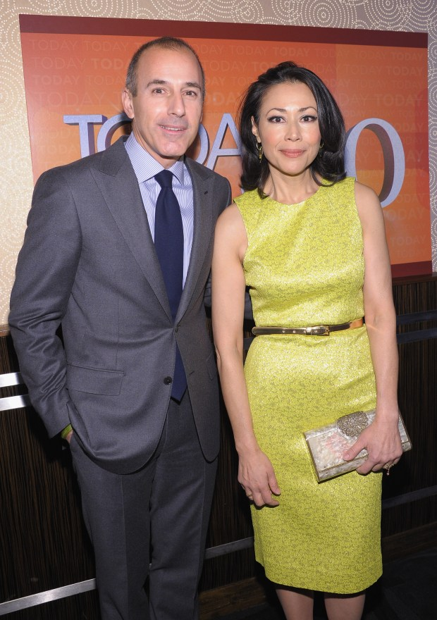 "NEW YORK, NY - JANUARY 12: ""TODAY"" Show correspondents Matt Lauer and Ann Curry attend the ""TODAY"" Show 60th anniversary celebration at The Edison Ballroom on January 12, 2012 in New York City. (Photo by Michael Loccisano/Getty Images)"