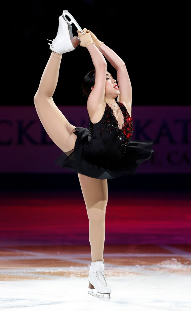 Karen Chen skates in the Smucker's Skating Spectacular for the 2018 US Figure Skating Championships at the SAP Center in San Jose, Calif., on Sunday, January 7, 2018. (Nhat V. Meyer/Bay Area News Group)