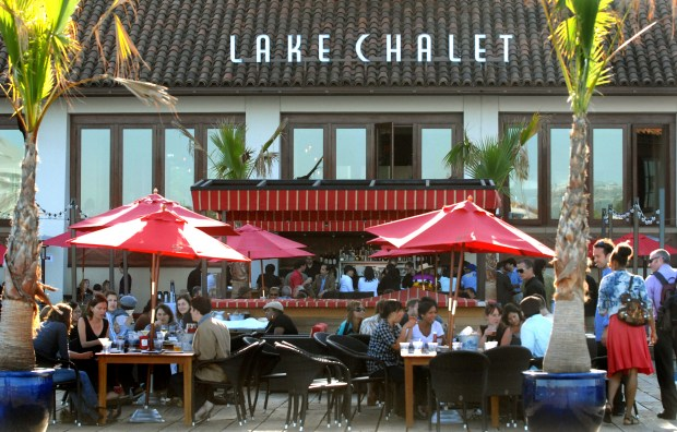 The patio at the Lake Chalet restaurant in Oakland, Calif., on Thursday, June 17, 2010. (Doug Duran/Staff)