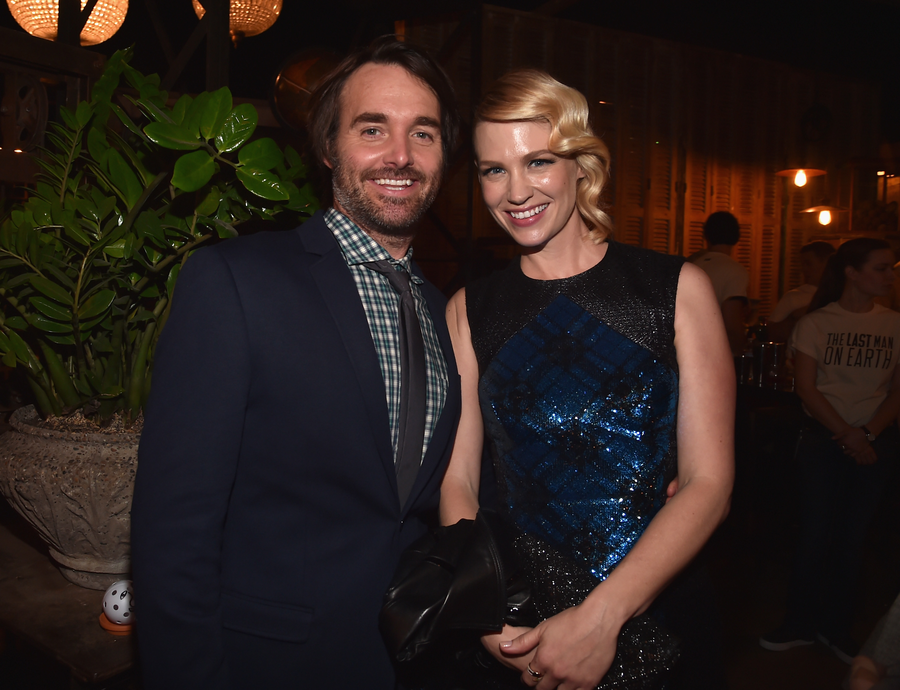 LOS ANGELES CA- FEBRUARY 24 Actors Will Forte and January Jones attend the after party for the premiere of Fox's