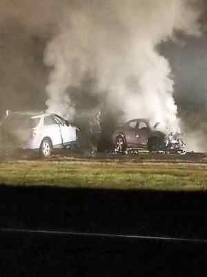 Two vehicles collided on Interstate-5 early Sunday morning, leaving six people dead. (JEREMY MORGAN-COURTESY PHOTO)