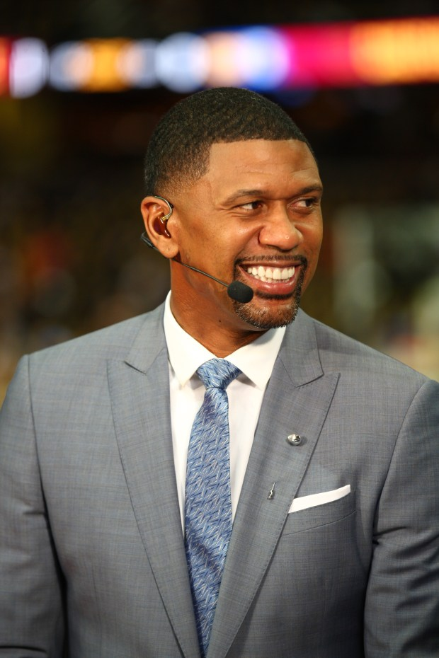 Cleveland, OH - June 7, 2017 - Quicken Loans Arena: Jalen Rose on the set of NBA Countdown during the 2017 NBA Finals(Photo by Scott Evans / ESPN Images)