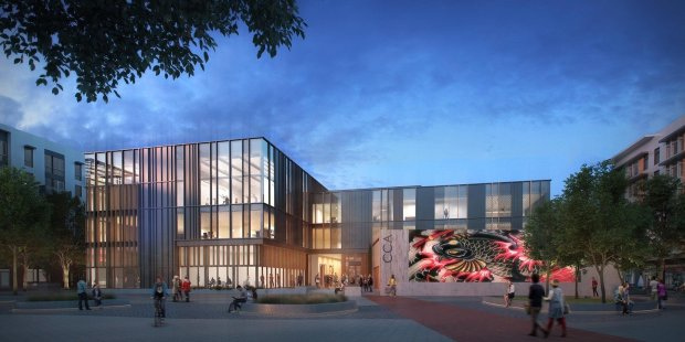 A rendering of an arts center to be built in Japantown by the organizationSilicon Valley Creates. (Courtesy of Silicon Valley Creates)