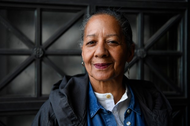 Delores Orr, 70, of Oakland, stands at the doorway of Doe Library at UC Berkeley in Berkeley, Calif., on Friday, Jan. 19, 2018. Orr, an undergraduate, hopes to graduate in the Spring of 2018 and is majoring in Ethnic Studies. Orr has been taking a full course load with 13-14 units a semester. (Jose Carlos Fajardo/Bay Area News Group)