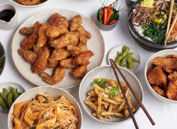 Bonchon's fried chicken comes in wings, strips or drumsticks and is greataccompanied with French fries or bibimbap on the side. (Photo courtesy of Bonchon)