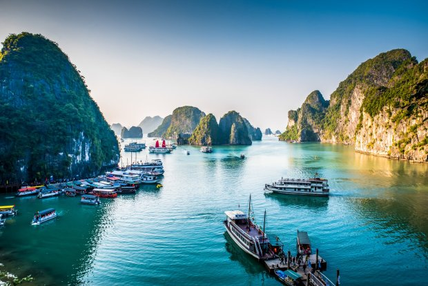 Vietnam is a popular vacation destination, known for its beautiful sights,such as Halong Bay. (Courtesy Simon Dannhauer)