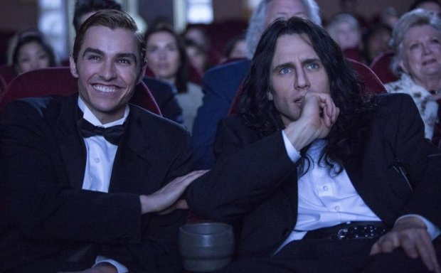 "Courtesy: A24 FilmsDave Franco as Greg Sestero and James Franco as Tommy Wiseau in ""The Disaster Artist,"" based on the book about the making of ""The Room."""