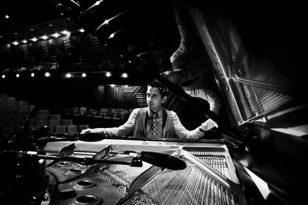 Vijay Iyer performs at the SFJAZZ Center, Jan. 18-21, 2018. (Courtesy of Music + Art Management, Inc..Photo credit: Lena Adasheva)