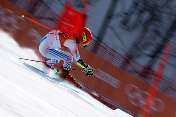 PYEONGCHANG-GUN, SOUTH KOREA - FEBRUARY 15: Mikaela Shiffrin of USA wins the gold medal during the Alpine Skiing Women's Giant Slalom at Yongpyong Alpine Centre on February 15, 2018 in Pyeongchang-gun, South Korea. (Photo by Alexis Boichard/Agence Zoom/Getty Images)