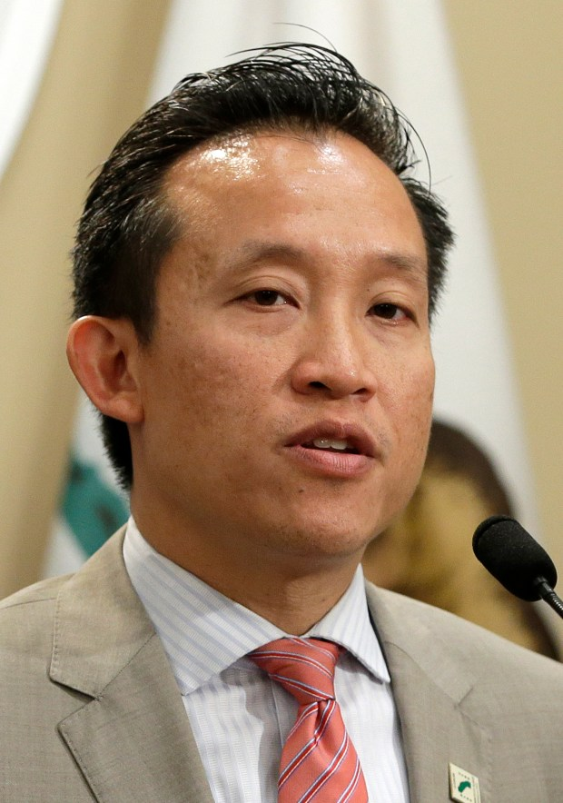 Assembly David Chiu, D-San Francisco, at a Capitol news conference, Tuesday, May 9, 2017, in Sacramento, Calif. (AP Photo/Rich Pedroncelli)