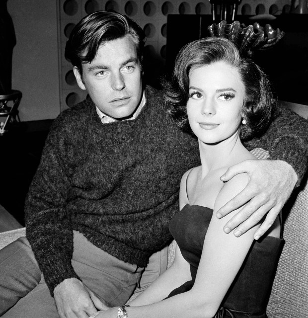 """In a Nov. 25, 1959 file photo, Natalie Wood and her husband Robert Wagner are made up for their roles in """"All The Fine Young Cannibals,"""" in Los Angeles. Dennis Davern, captain of the yacht Splendour, which Wood was aboard at the time of her death, said on national TV Friday, Nov. 18, 2011 that he lied to investigators about Natalie Wood's mysterious death 30 years ago and blames the actress' husband at the time, Robert Wagner, for her drowning in the ocean off Southern California. (AP Photo/DFS, File)"""