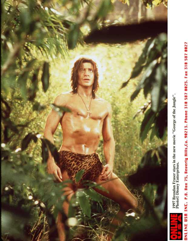 "1997 Brendan Fraser stars in the new movie ""George of the Jungle""."