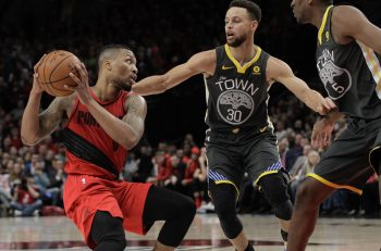Damian Lillard arrives at the arena in an excellent Stone Cold Steve ... 59476cde8