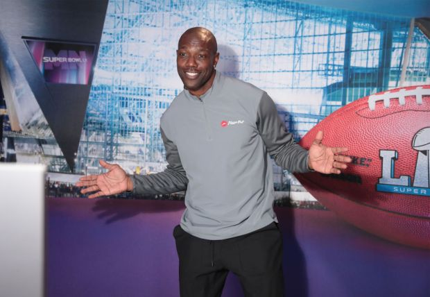 BLOOMINGTON, MN - FEBRUARY 01: Former NFL player Terrell Owens attends SiriusXM at Super Bowl LII Radio Row at the Mall of America on February 1, 2018 in Bloomington, Minnesota. (Photo by Cindy Ord/Getty Images for SiriusXM)