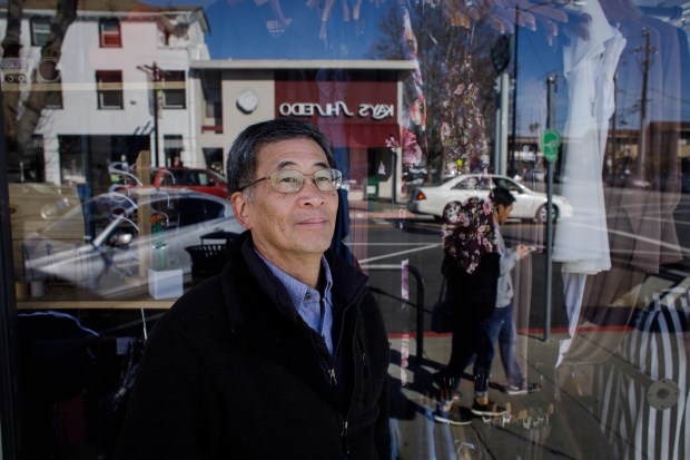 Portrait: Roy Hirabayashi, co- founder of San Jose Taiko, started visiting San Jose's Japantown as a student at San Jose State University in the 1970s and has watched it transform from a quiet Japanese-American community into a diverse neighborhood with new type of businesses and apartments. (Dai Sugano/Bay Area News Group)