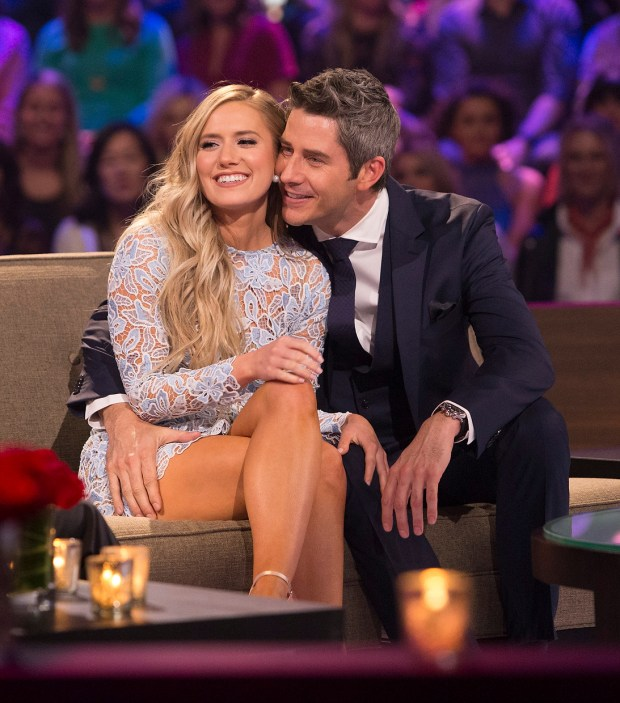 Lauren and Arie Luyendyk Jr. during 'The Bachelor: After the Final Rose.' (ABC/Paul Hebert)