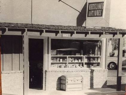 Keesling's Antiques shop in Los Altos (Photo courtesy of Pete Keesling)