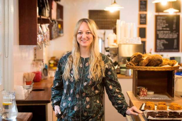 Baker Claire Ptak poses for a photgraph inside her bakery, Violet, in east London on March 20, 2018. Ptak has been asked to make the wedding cake for the forthcoming marriage of Britain's Prince Harry to his US fiancee, Meghan Markle. / AFP PHOTO / POOL / Victoria JonesVICTORIA JONES/AFP/Getty Images